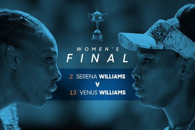 There has arguably never been as much at stake as there is in Saturday's women's final between the Williams sisters. - 2017 Australian Open Tennis Championships