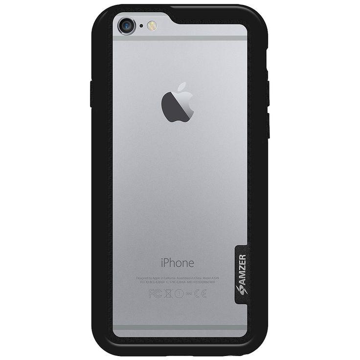 Boční kryt na iPhone 6, 6s Amzer Border Case AMZ97283 černý
