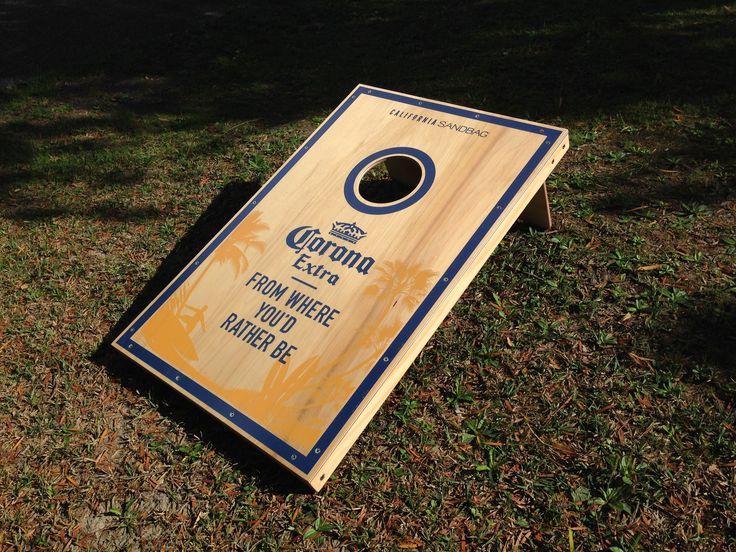 Custom Design - CORONA. California Sandbag, New Zealand, Corn-hole, Bago, Gaming, Back yard, Beach, Bag Toss. #californiasandbagnz