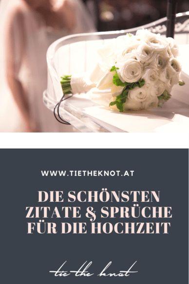 Die schönsten Zitate und Sprüche zur Hochzeit