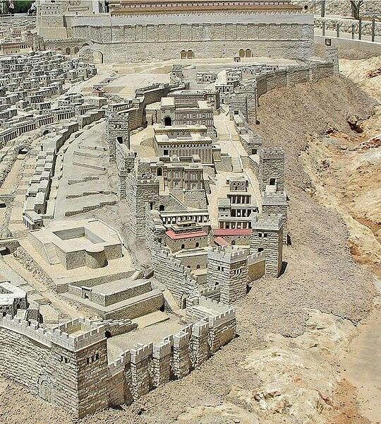 City of David in Jerusalem. One of the oldest cities in Israel. Was a walled city in the Bronze Age.