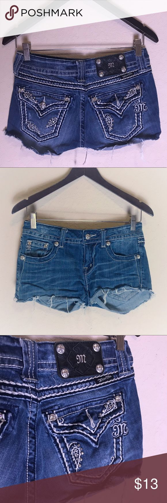 Miss Me Shorts size 27 custom made from jeans Miss Me Shorts size 27 custom made…