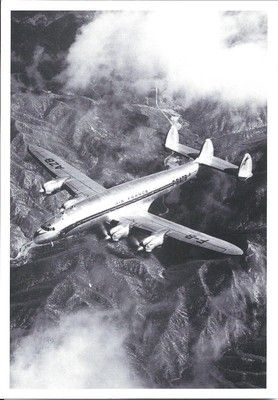 AIR FRANCE - LOCKHEED CONSTELLATION - F-BAZB - EN VOL/IN FLIGHT - CP NEUVE/NEW