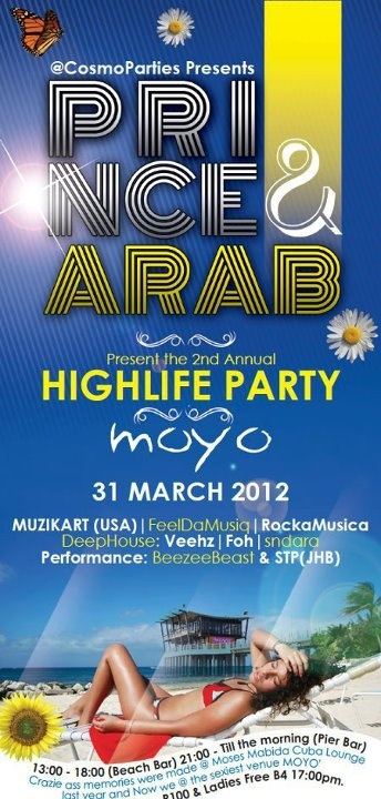 #Sun #Sea and Party! .. living The High Life at moyo uShaka Pier -- 31 March 2012