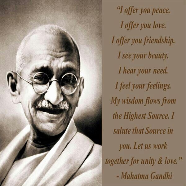 Quotes By Gandhi On Unity : Men flocked to see it and ascended as was a by