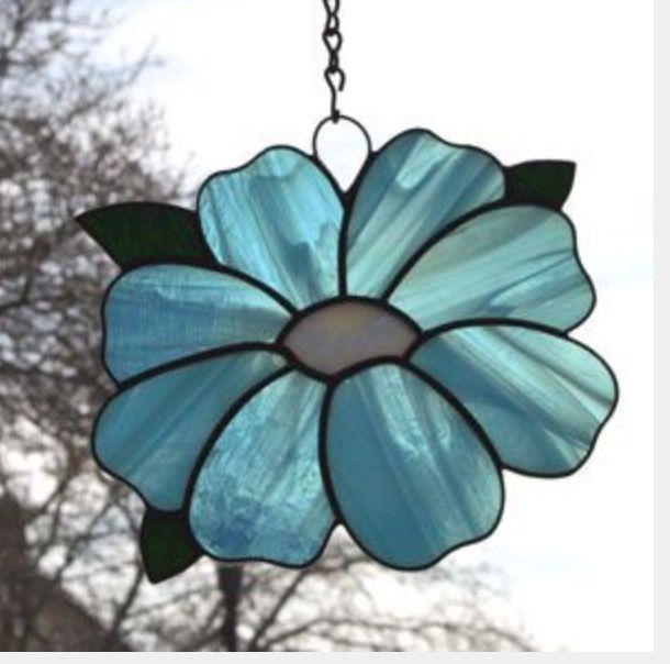 Fleur vitrail