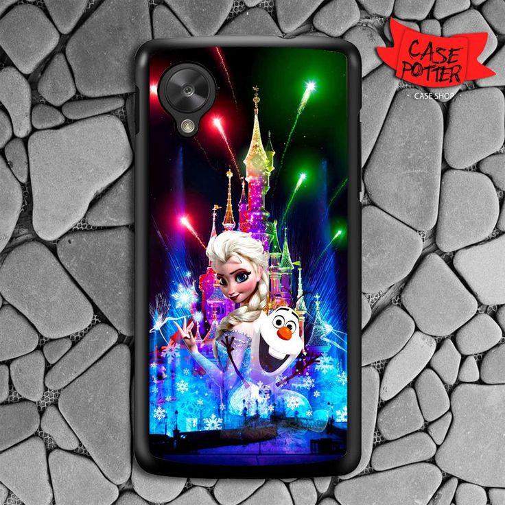 Castle Frozen Elsa And Olaf Nexus 5 Black Case