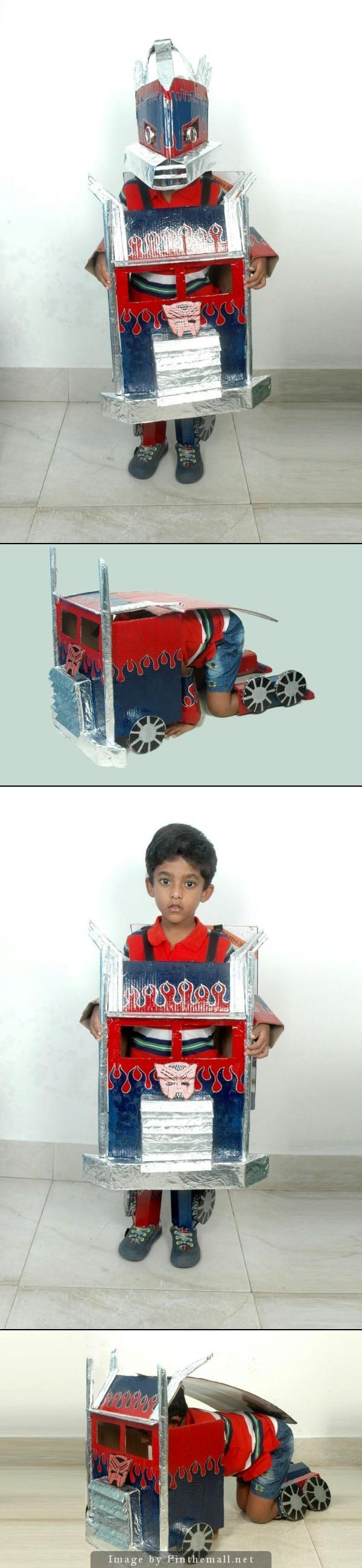 My son, Sai Krishna's Fancy dress competition dress. He won first prize for this costume . He is v.crazy with the Transformer movie, so I designed this costume like an Optimus. - created via http://pinthemall.net