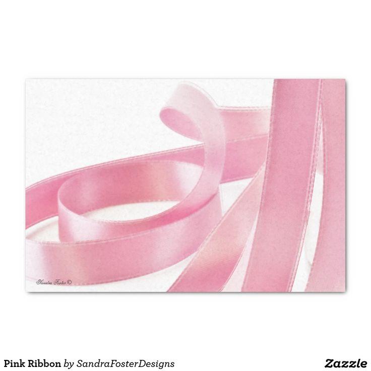 "Pink Ribbon 10"" X 15"" Tissue Paper"