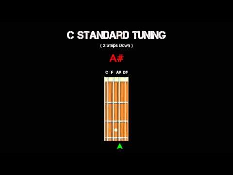 Guitar Tunings and Bass tunings E Standard Eb Half Step Drop D Drop C Drop A and More...
