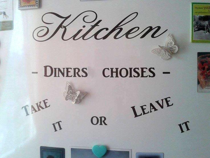 Kitchen Diners Choices #keittiö #sisustustarra