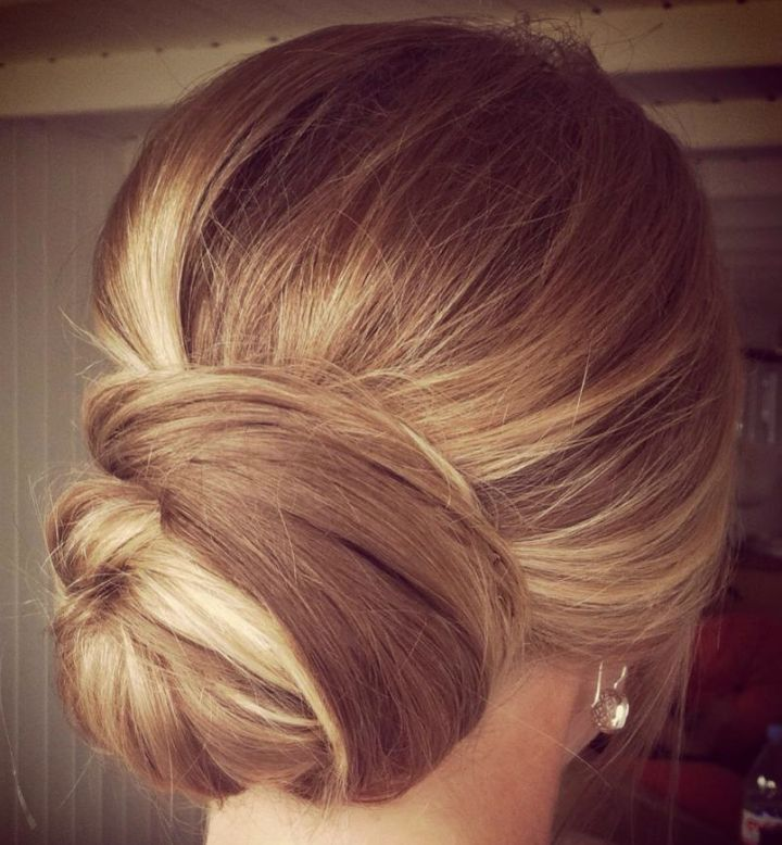 we ❤ this!  moncheribridals.com #weddingupdo #lowbridalbun #bridalbun
