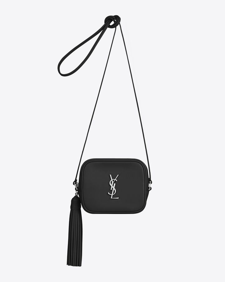 84f0ab92a424 Saint Laurent MONOGRAM SAINT LAURENT BLOGGER Bag In Black Leather ...