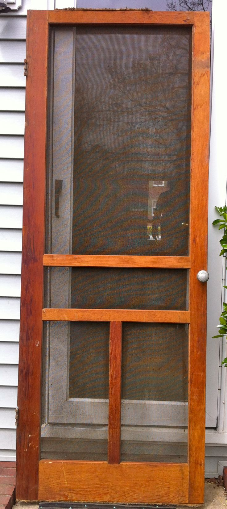 1940 39 s wooden screen door for the home pinterest for Screen doors for front door