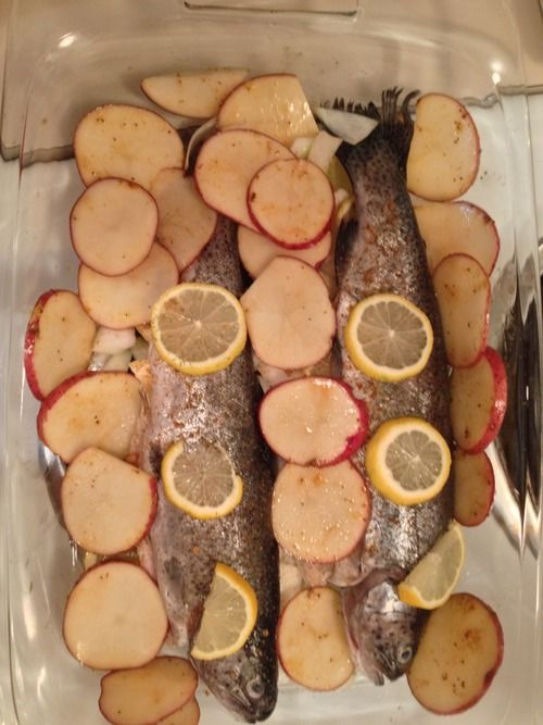 Fit Kitten Diaries*, Whole Trout With Potatoes and Asparagus