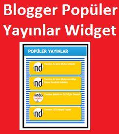 Blogger Şık Popüler Yayınlar Widget