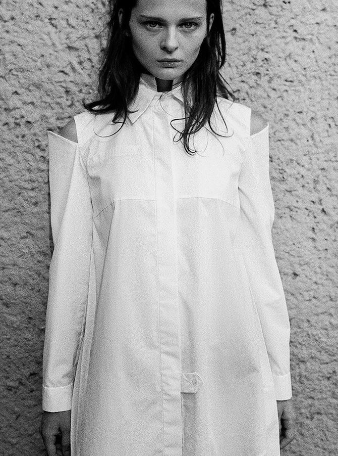 This Is A Fabulous White Shirt by Edie Karimova