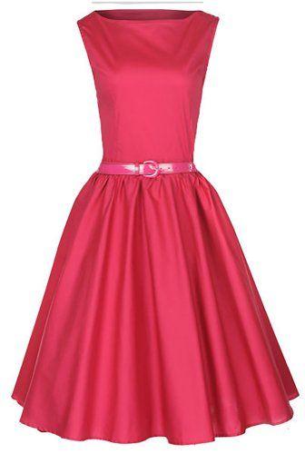 Lindy Bop Robe de Soiree Vintage 1950's Audrey Hepburn. Style Rockabilly. Parfaite Pour Soiree Dansante. La framboise Rose. TAILLE 3XL/48 Lindy Bop http://www.amazon.fr/dp/B009W078PE/ref=cm_sw_r_pi_dp_BNUevb08G48XX