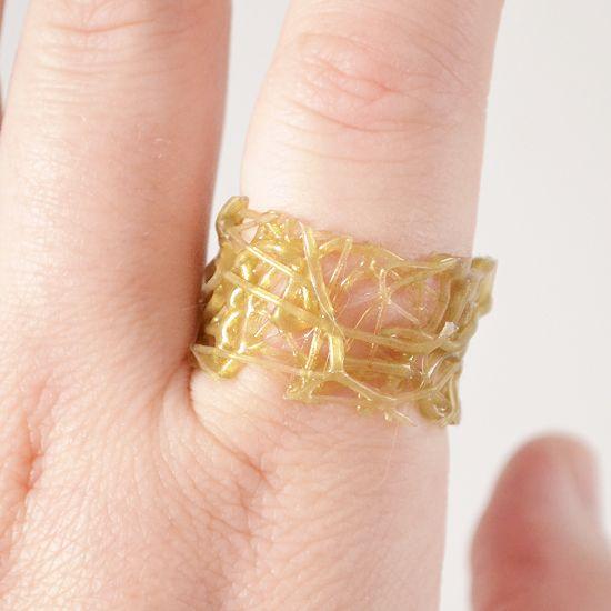 - Dream a Little Bigger Craft Blog - Hot Glue Rings - a DIY JewelryExperiment