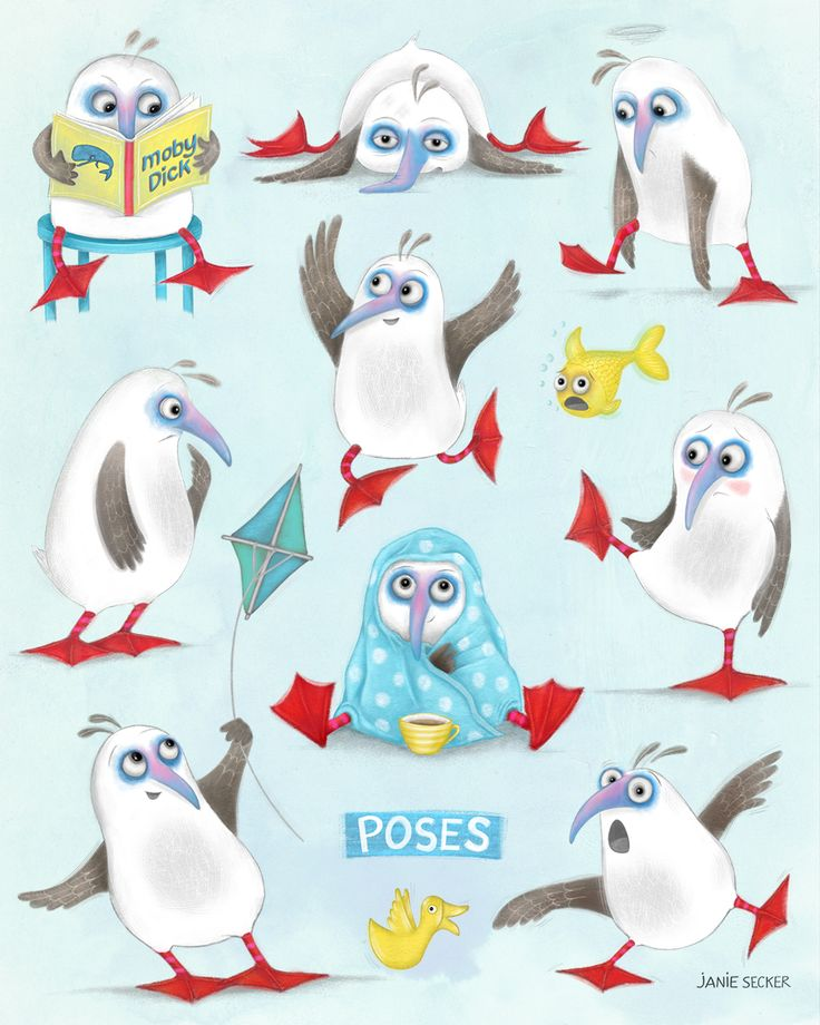 Design for the MATS children's book illustration course - study of poses for Norman.