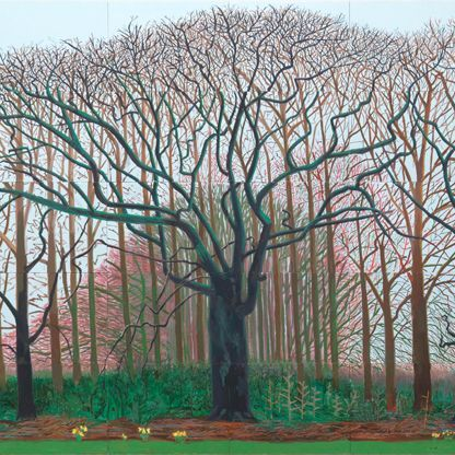 David Hockney: Bigger Trees Near Warter | david hockney ...