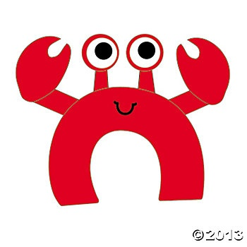 C Is For Crabs Craft Kit - Oriental Trading.  For the goodie bags!