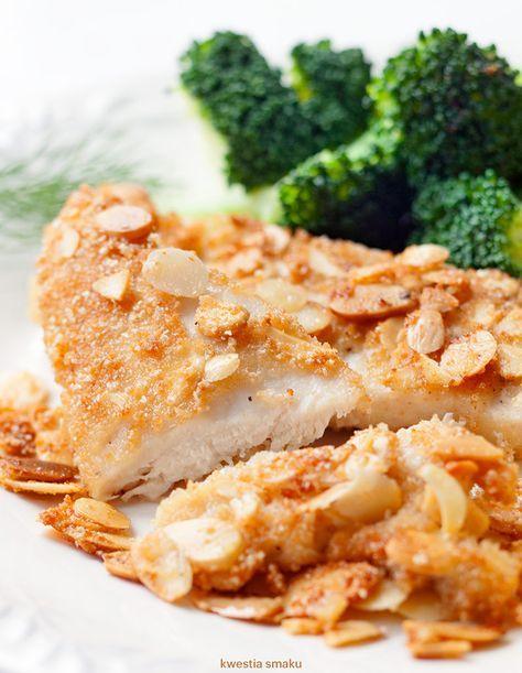Filety kurczaka w płatkach migdałowych