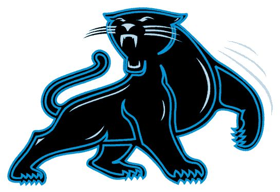 Carolina Panthers Alternate Logo (1995) - A black panther outlined in light blue looking back