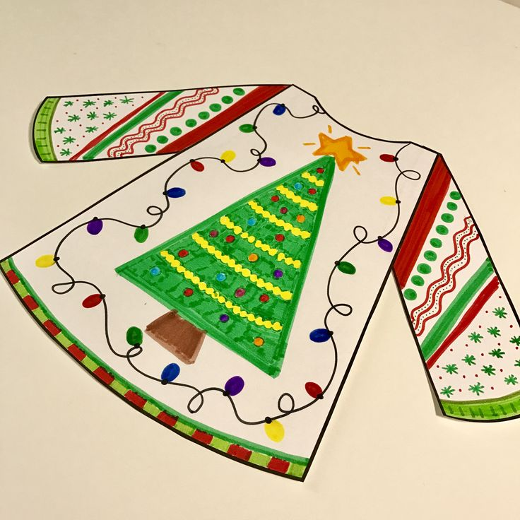 Ugly Christmas Sweater Craftivity - students design their own ugly/tacky Christmas sweater and write about it! Multiple writing prompts to choose from!