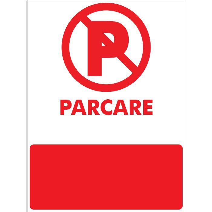 Indicator care interzice parcarea, ori stationarea. Acesta afiseaza un semn de parcare interzisa. Mesajul poate fi personalizat cu numarul masinii dvs., rezervat auto, parcare rezervata, parcare adp sector, etc