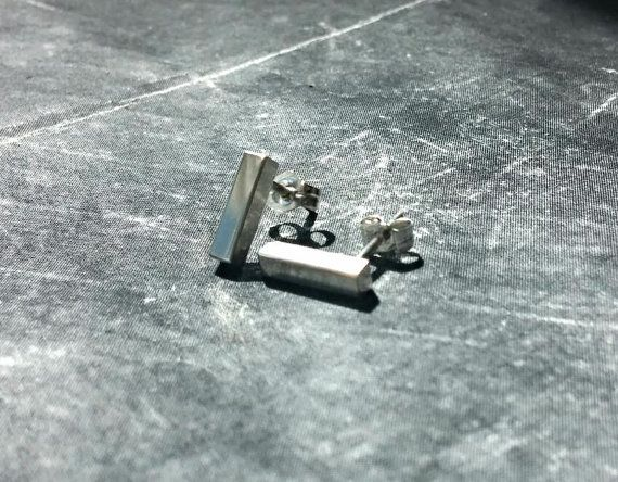 Simple Handmade Silver Studs earrings by HindorfJewellery on Etsy