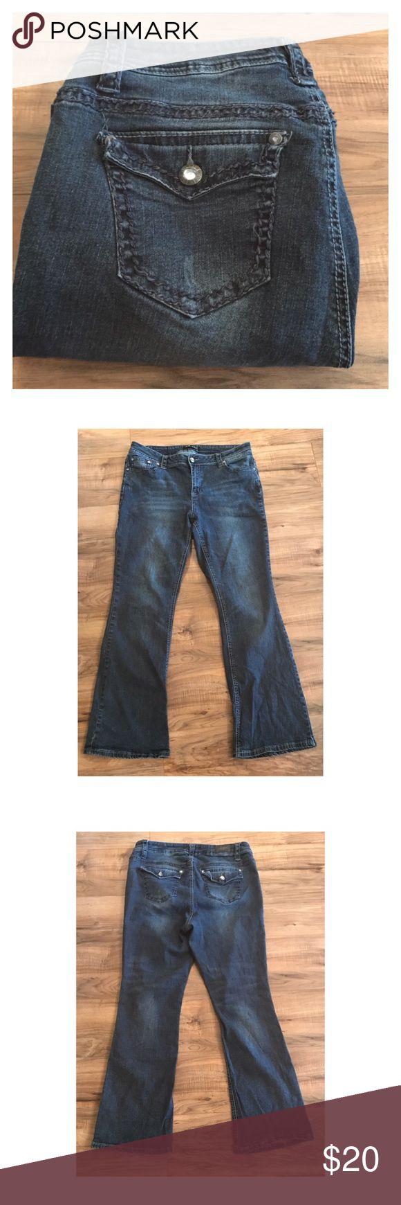 "ZCO Jeans 16 Medium wash ZCO jeans size 16 in good condition. Waist 18"", rise 10"", inseam 30"". Measurements taken flat. ZCO Jeans Flare & Wide Leg"