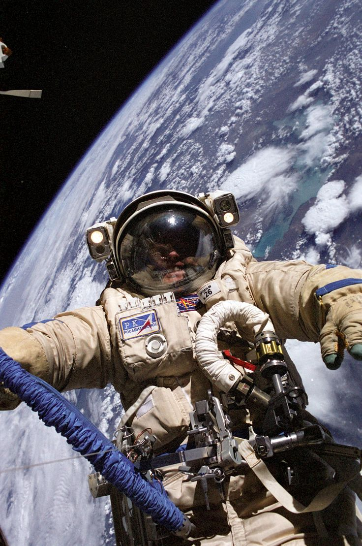 Astroquizzical • Why are NASA's space suits so much clunkier  than... -- But, this is appears to be a cosmonaut