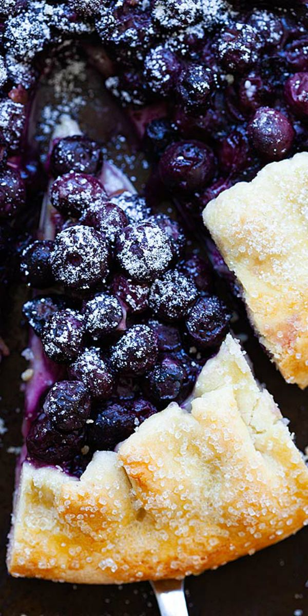 The Best Blueberry Galette Recipe Ever With Flaky And Buttery Tart