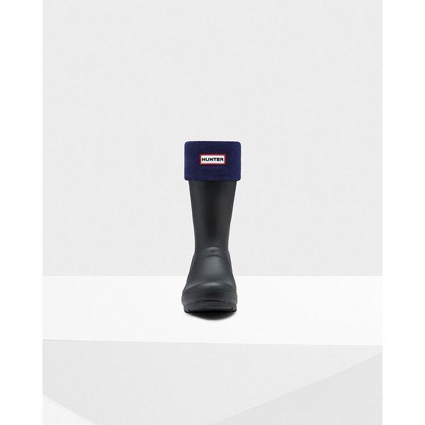 Hunter Short boot socks ($25) ❤ liked on Polyvore featuring intimates, hosiery, socks, navy, navy socks, hunter socks and navy blue socks