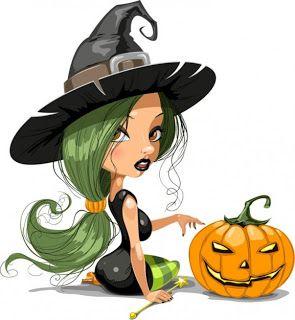 brujas de halloween para imprimir - Cute Halloween Witches