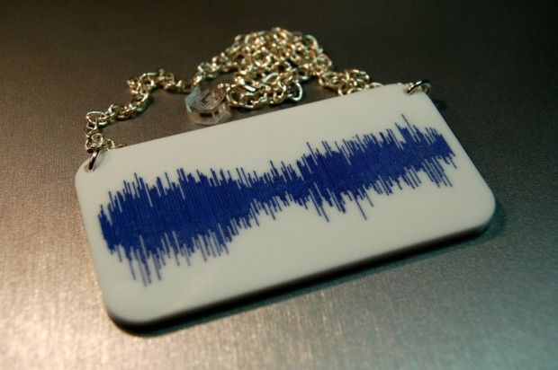 Now You Can Wear the TARDIS Sound Wave as a Necklace