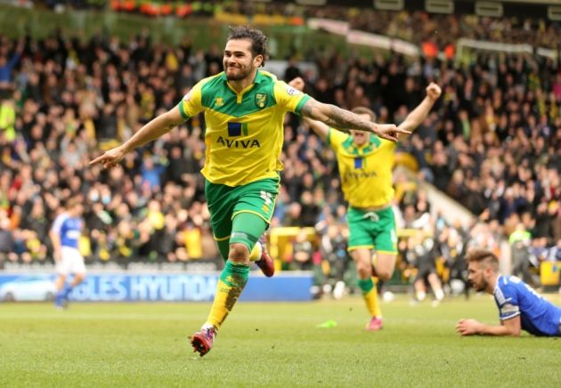 Bradley Johnson - Norwich City 100 club, and still a Canaries hero...  http://www.pinkun.com/norwich-city/norwich-city-s-top-100-appearances-bradley-johnson-95-the-man-who-hauled-the-canaries-back-to-the-premier-league-and-still-gets-talked-about-two-years-later-1-5020999