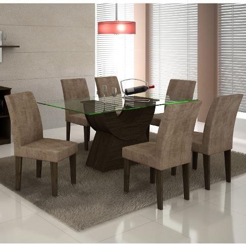 Sala De Jantar Modocasa Verona ~  De Jantar no Pinterest  Mesa Com 6 Cadeiras, Mesas De Jantar e Sofá