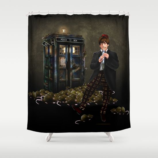 The Doctor Who with magic flute SHOWER CURTAIN @pointsalestore #society6 #showercurtain #digital #painting #oil #acrylic #watercolor #popart #tardisdoctorwho #doctorwho #tardis #rat #parody #humor #cute #horror #halloween #badwolf #badrat #blackrats #tale #haunted #classicdoctor