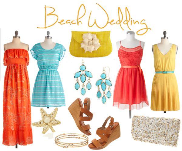 Formal beach wedding attire for women what wear for for Beach wedding dress code