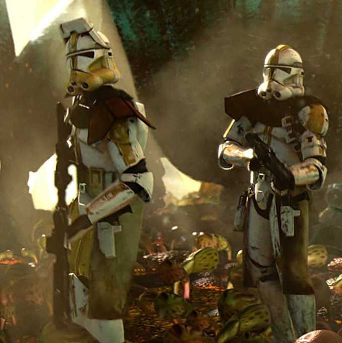 Original Clone Trooper Helmets and Armor Bly and star corps