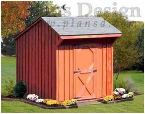Free salt box style shed plans and diy building for Free saltbox shed plans
