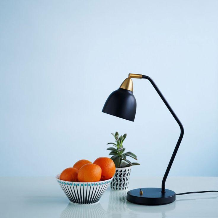 Elegant Lampe de bureau Urban Noir mat Superliving