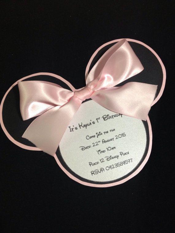 Minnie Mouse Birthday Invites  on Etsy, $5.40 AUD