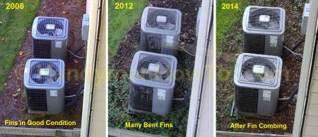 How to Clean and Straighten AC Condenser Coils