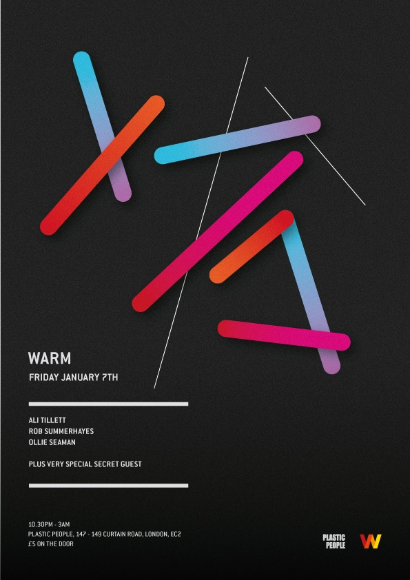 Warm #graphic #poster #gradient