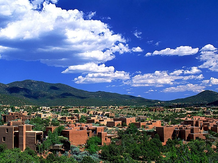Sante Fe, New Mexico...The skies are really this blue and the clouds this fluffy in Santa Fe. For whatever reason, my soul feels at peace here like no other place.