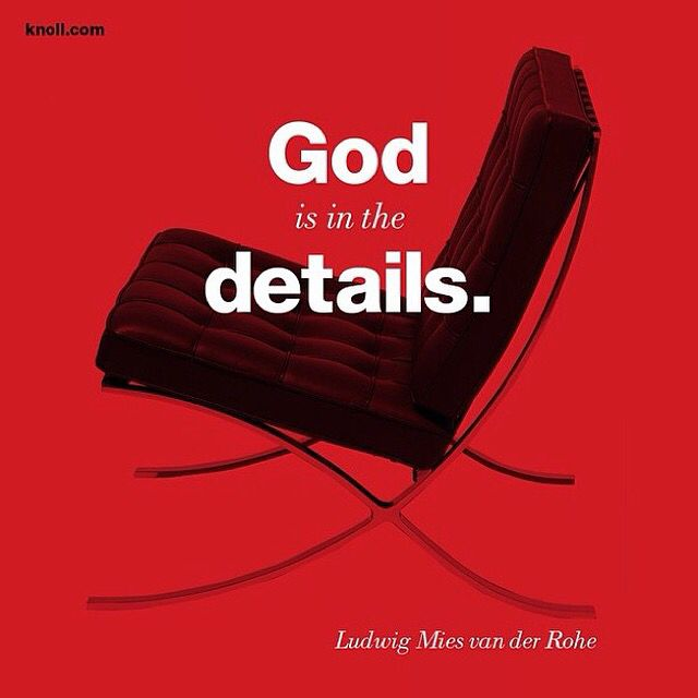 God is in the details - #Barcelona Chair - Ludwig #Mies van der Rohe