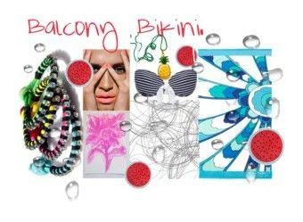 """Balcony Bikini............"" by sgnprogram ❤ liked on Polyvore featuring Blume, Dorothy Perkins, Heidi Klein and Trina Turk"